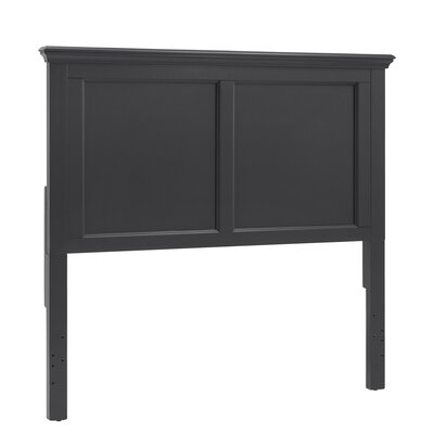 Isabella Panel Headboard Color: Vulcan Black, Size: Queen