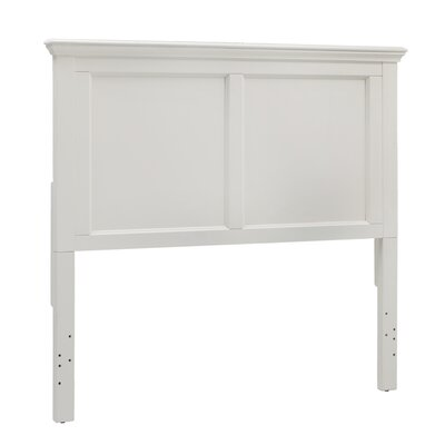 Isabella Panel Headboard Color: White, Size: Full
