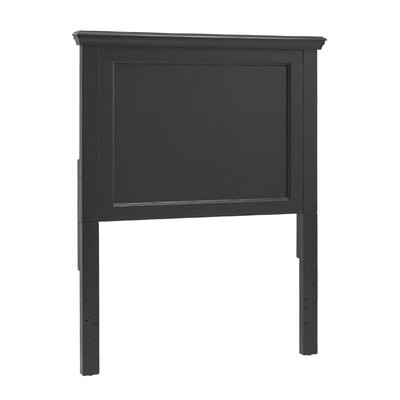 Isabella Panel Headboard Color: Vulcan Black, Size: Full