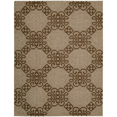 Cedarwood Hand-Woven Almond Area Rug Rug Size: Rectangle 56 x 75