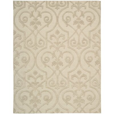 Cedarwood Hand-Woven Sand Area Rug Rug Size: Rectangle 56 x 75
