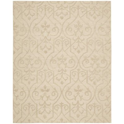 Cedarwood Hand-Woven Sand Area Rug Rug Size: Rectangle 79 x 99
