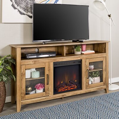 Kohn 58 TV Stand with Fireplace Finish: Barnwood