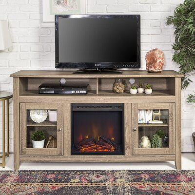 Isabel Highboy 58 TV Stand with Fireplace Color: Driftwood