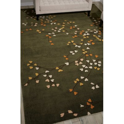 Alarick Wesleyville Hand-Tufted Green Area Rug Rug Size: Rectangle 5 x 76