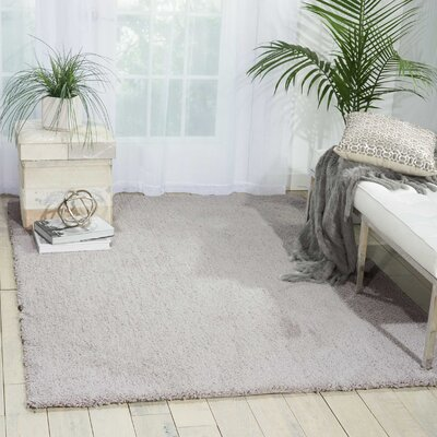 Johannsen Shag Gray Area Rug Rug Size: Rectangle 5 x 7