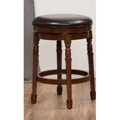 Laver 25.6 Swivel Bar Stool Finish: Chocolate Brown