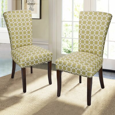 Miriam Floral Upholstered Dining Chair with Birch Legs