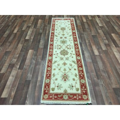 One-of-a-Kind Baron Hand-Woven Wool Beige Area Rug