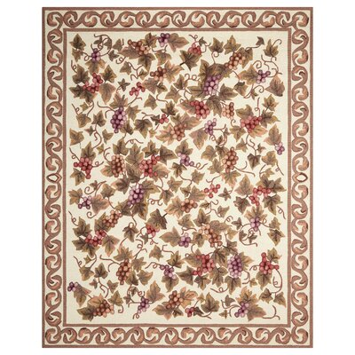 Eckard Hand-Tufted Ivory/Brown Area Rug Rug Size: Rectangle 75 x 95