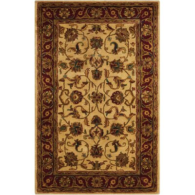 Delaware Light Gold Area Rug Rug Size: Rectangle 39 x 59