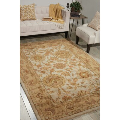 Delaware Hand-Tufted Wool Ivory Area Rug Rug Size: Rectangle 96 x 13