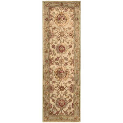 Delaware Hand-Tufted Wool Ivory Area Rug Rug Size: Runner 24 x 8
