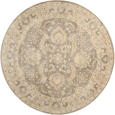 Fullmer Taupe Area Rug Rug Size: Round 8