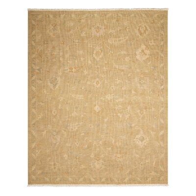 Leavittsburg Hand-Woven Gold Area Rug Rug Size: Rectangle 79 x 99