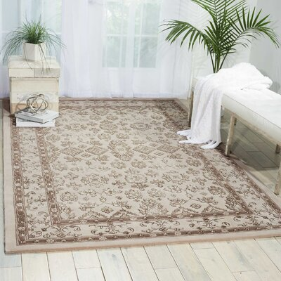 Fraserburgh Brown/Ivory Area Rug Rug Size: Rectangle 3'9