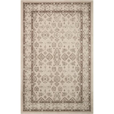 Fraserburgh Brown/Ivory Area Rug Rug Size: Rectangle 56 x 86