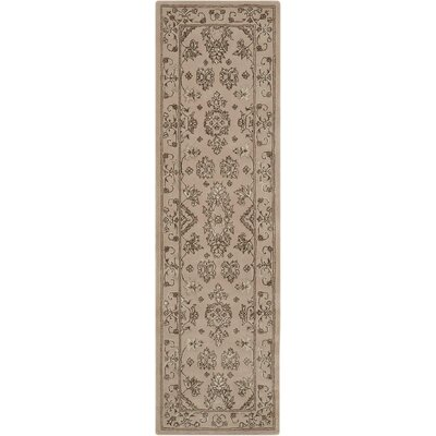 Fraserburgh Brown/Ivory Area Rug Rug Size: Runner 23 x 8
