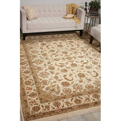 Franciscan Handmade Ivory Area Rug Rug Size: Rectangle 116 x 86
