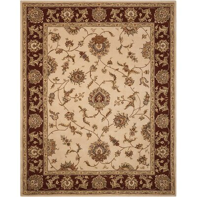 Freeport Handmade Beige/Red Area Rug Rug Size: Rectangle 79 x 99