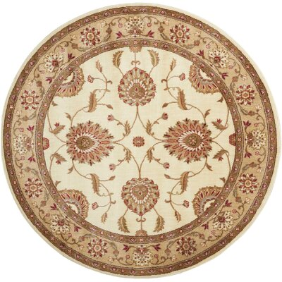 Proctorville Ivory Area Rug Rug Size: Round 56