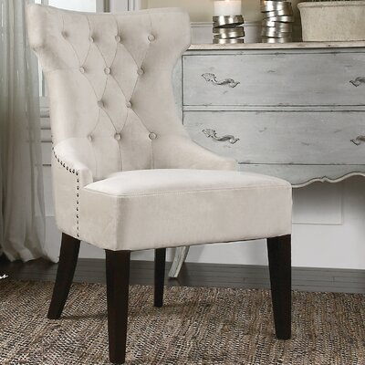 Boyster Tufted Wing Side Chair