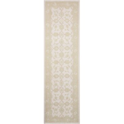 Ridgeville Hand Tufted Ivory & Green Area Rug Rug Size: Runner 23 x 8
