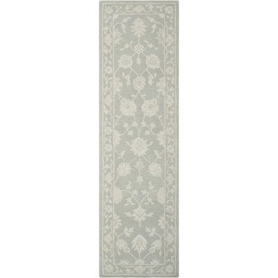 Ridgeville Hand-Tufted Light Taupe Area Rug Rug Size: Runner 23 x 8