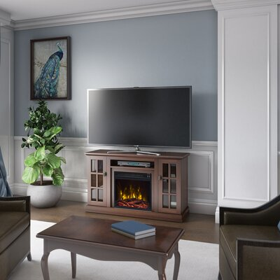 Croftshire Electric 47.25 TV Stand with Electric Fireplace Fireplace Included: Yes