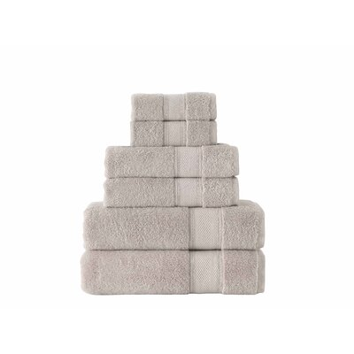 Aster 6 Piece Towel Set Color: Driftwood