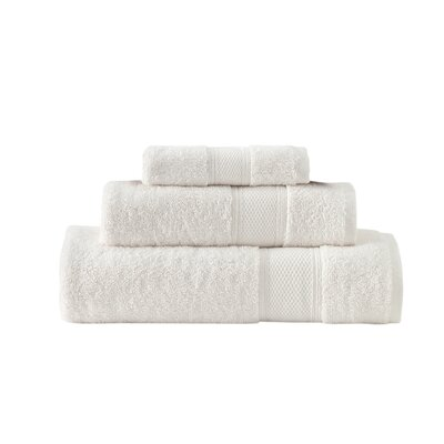 Aster 3 Piece Towel Set Color: Ivory