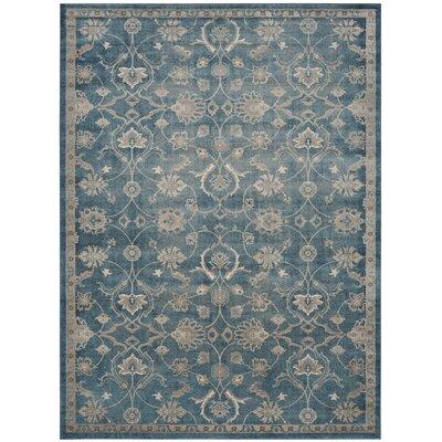 Sofia Beige/Blue Area Rug Rug Size: Rectangle 10 x 14