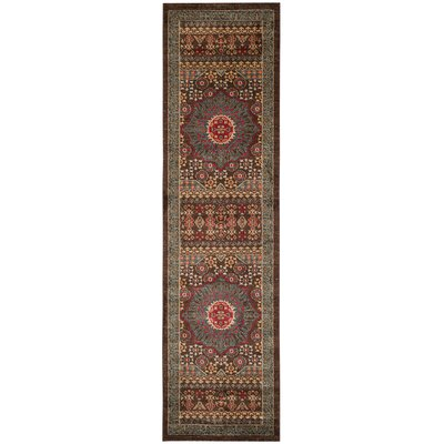 Freetown Red Area Rug Rug Size: Runner 22 x 22