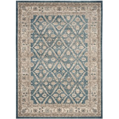 Sofia Power Loom Blue/Beige Area Rug Rug Size: Rectangle 8 x 10