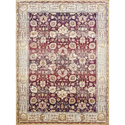 Rennick Red/Beige Area Rug Rug Size: Rectangle 106 x 165