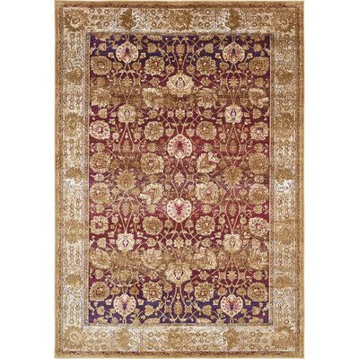 Rennick Red/Beige Area Rug Rug Size: Rectangle 7 x 10