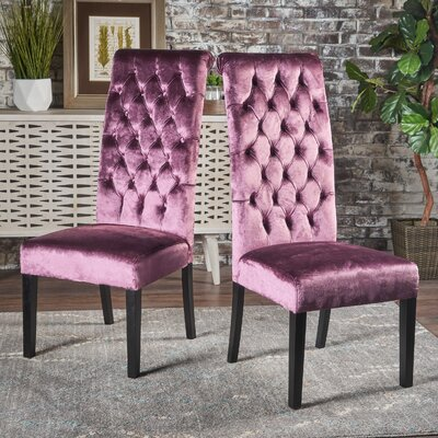 Petersburg Upholstered Dining Chair Upholstery Color: Raisin