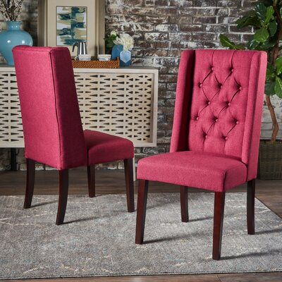 Grosse Dining Chair Color: Red