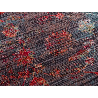 Piercefield Traditional Oriental Retro Brown Area Rug Rug Size: 53 x 77