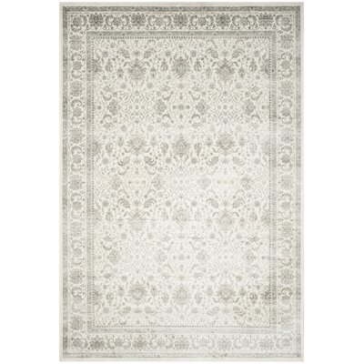 Setser Ivory/Silver Area Rug Rug Size: Rectangle 8 x 10