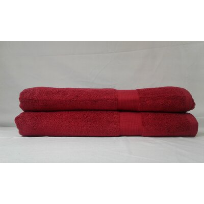 Bloomberg Bath Sheet Color: Cranberry