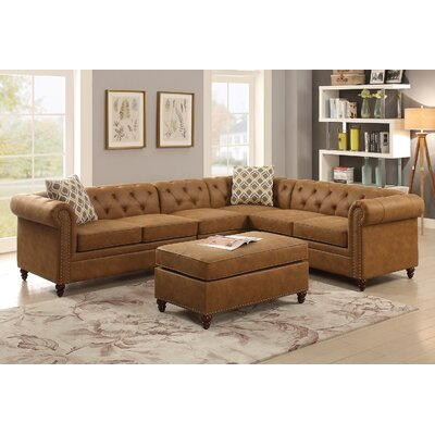 Cherwell Reversible Sectional Upholstery: Camel