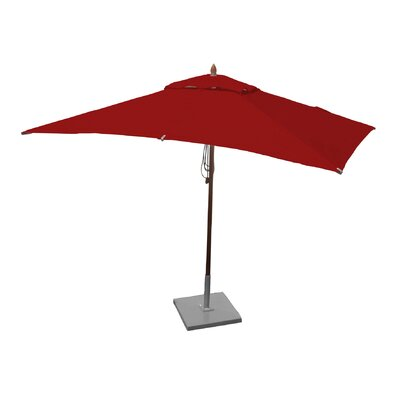 Image of 10' X 6.5' Rectangular Market Umbrella Fabric: Jockey Red