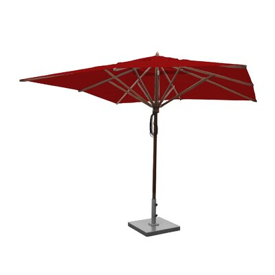 Image of 10' Square Market Umbrella Fabric: Jockey Red
