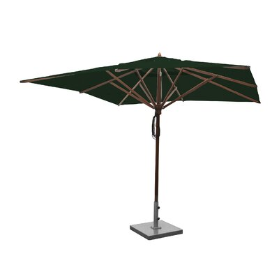 Image of 10' Square Market Umbrella Fabric: Forest Green