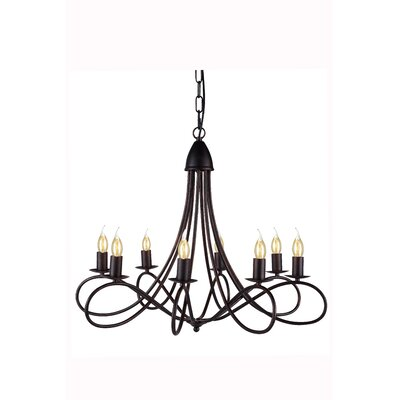 Diaz 8-Light Candle-Style Chandelier Finish: Dark Bronze