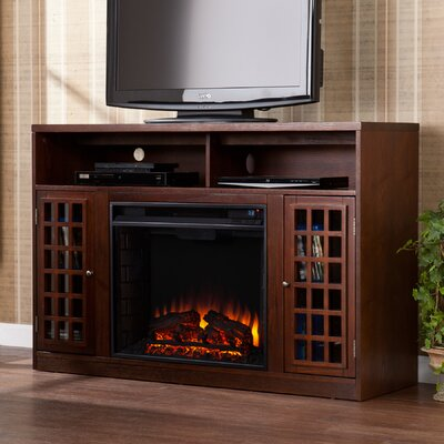 Industry 48 TV Stand with Fireplace Color: Espresso