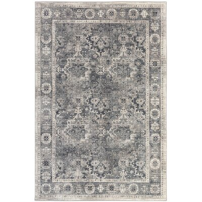 Rutland Gray Area Rug Rug Size: Rectangle 710 x 53