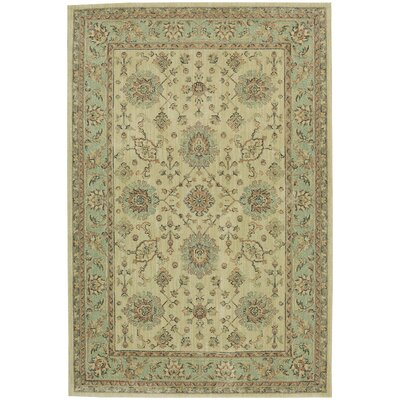 Sebring Beige/Green Area Rug Rug Size: Rectangle 53 x 710