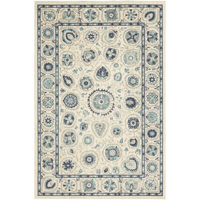Sedgemoor Beige/Blue Area Rug Rug Size: Rectangle 8 x 10